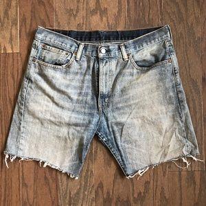 Levis Light Wash Cutoff Jean Shorts 505